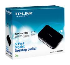 TP-LINK TL-SG1005D 5-port Gigabit Ethernet Desktop Switch in Black