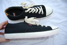 New Black Canvas LEVI'S Laced Sneakers Man's 13