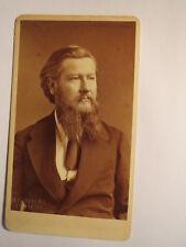 Stuttgart - Mann mit Bart - Portrait / CDV Erwin Hanfstaengl