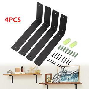 4PCS Industrial Rustic Heavy Duty Black Shelf Brackets rack support Kitchen Rack