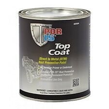 POR15 Chassis Black Top Coat US Pint 473ml Smooth Satin Finish POR 15 TopCoat