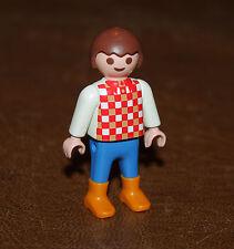 Playmobil country garçon pull à damier rouge 4499 5937