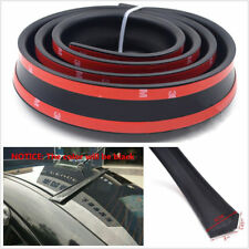 Black Soft Car Rear Roof Trunk Spoiler Wing Lip Trim Sticker Kit 4.43ft/1.35M