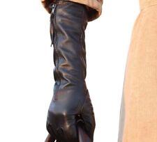 Solid Winter Echtleder Damen Handschuhe mit Reißverschluss Warm Thermo Schwarz