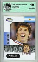 Lionel Messi Showcase Prospects Argentina 2006 World Cup Rookie Card PGI 10