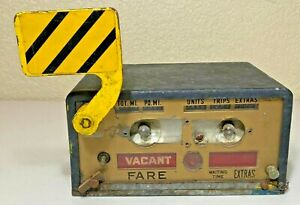 Vintage Taxi Cab Meter Fare