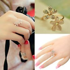 Rhinestone Crystal New Hot Cute Flower Adjustable Daisy Ring Women's Lady Gifts