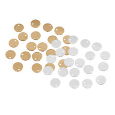 40 x Metal Coin Round Stamping Blank Tag Jewelry Making Gold & Sliver