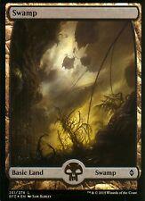 Swamp FOIL - Version 2 (Full Art) | NM/M | Battle for Zendikar | Magic MTG #261