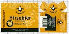 SWITZERLAND Brauerei Baar AG HIRSEBIER 33cl beer label C2261 053