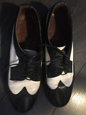 mens Black And White  two tone shoes size 9