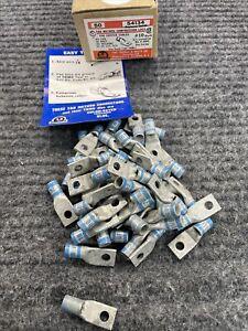 Thomas & Betts 54134 #6awg short barrel #10 stud single hole lug Qty 50 box