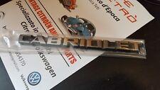 VW GOLF 1 2  CABRIO CABRIOLET LOGO EMBLEMA ORIGINALE GENUINE EMBLEM MONOGRAMME