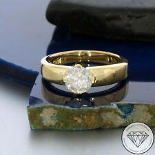 Wert 3.400,- Traumhafter 585/14 Karat Gelb Gold 1,15 Brillant Solitär Ring xxyy