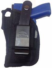 ProTech Gun Holster fits Beretta Nano with Laser Black Nylon Use L or R Hand