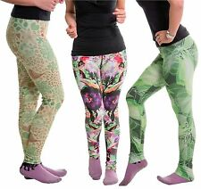 Womens Sublimated Compression Pants Running Gym Workout Stretchable Trousers