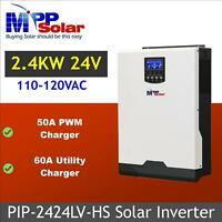 2400w 24V 110Vac Solar Inverter + solar charger 50A PWM + battery charger 60A