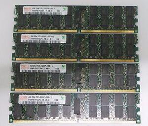 16GB KIT (4X4GB) HYNIX PC2-5300P 667MHz 2Rx4 ECC Register Memory SERVER