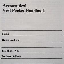 Original 1977 Pratt & Whitney Vest Pocket Handbook