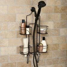 Home Shower Caddy Storage Bronze Hanging Shelf Bathroom Elegance Organizer Rack