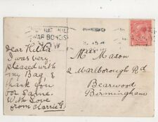 Miss Hilda Mason Marlborough Road Bearwood Birmingham 1918 301b