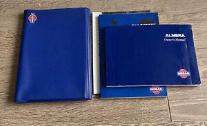 NISSAN ALMERA OWNERS INSTRUCTION MANUAL HANDBOOK FOLDER BOOK PACK N16 2000-2006