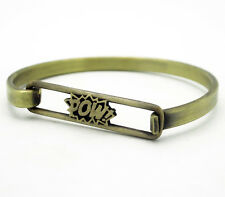 Snash Jewelry POW! Bracelet Antique Brass Made in Brooklyn