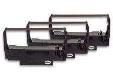 3x Cinta de Impresora Negro Nylon para Epson TM-U220D, TM-U210A