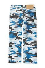 $79 True Religion Boys 6 Straight S.E. Overdye Jeans Pants Blue White Camo