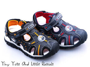 Boys Kids Summer Sandals Beach Shoes Leather Insole Size UK 12.5