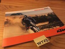 KTM 2003 Adventure 640 LC4 SXC Enduro moto prospectus catalogue brochure