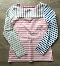 Joules Mariners Grade White With Purple, Pink And Blue Striped Jumper Uk Size 6