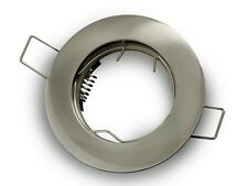 Porte spot encastable Fixe satiné pour lampes dichroïques Trou da 60mm 0430