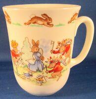 Royal Doulton Bunnykins 1 Handle Don Beaker Mug (Cowboys) - 3.5 In. England