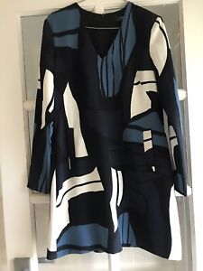 Cue Size 12 Shift Dress Fully Lined