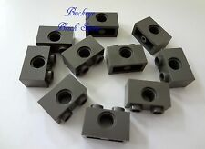 NEW Lego Technic 1x2 DARK GRAY BRICK with Holes - 10 Bricks - NEW