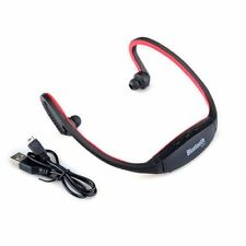 Wireless Bluetooth Handfree Stereo Headset Sports Headphone For Cell Phone Red