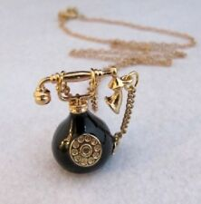 N45 B Betsey Johnson 3D Classic  Dial Telephone with Crystal Gem Necklace UK