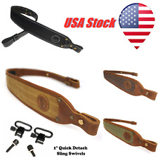 Leather Canvas Rifle Gun Sling Straps Shooting Straps Padded USA Fast Delivery