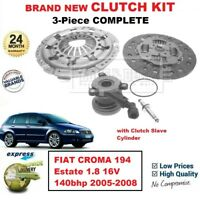 FOR FIAT CROMA Estate 1.8 16V 140bhp 2005-2008 BRAND NEW 3PC CLUTCH KIT with CSC