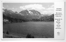 June Lake Famous For Its Trout Mono County CA Real Photo Postcard @1940