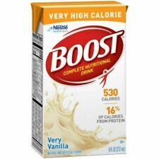 (27 Pack) Nestle Boost Very Vanilla High Calorie Drink 8oz Each Box BB 6/2021