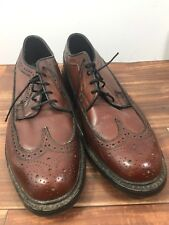 Barclay Vintage Brown Leather Long Wingtip Oxford Shoes Men 11 1/2D Fast Ship