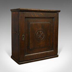 Antique Tea Cabinet, English, Oak, Spice, Apothecary Case, Georgian, Circa 1800