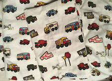 Children's Twin Sheet Set Truck Themed With Pillow Case