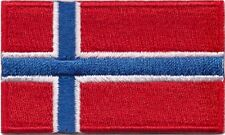 Norway Flag Small Iron On / Sew On Patch Badge 6 x 3.5cm Norwegian Noreg Norge