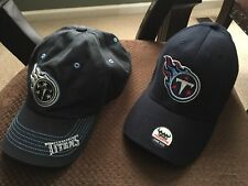 2 Two New NFL Tennessee TITANS Curve Bill Hats Cap One size fits All Best Deal
