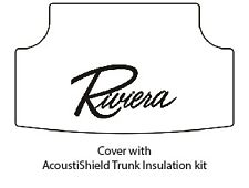 1963 1965 Buick Riviera Trunk Rubber Floor Mat Cover with G-051 Riviera Script