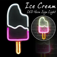 Ice Cream LED Neon Sign Light Beer Bar Bedroom Wall Decor Art Xmas Party Gift