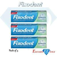 3 x Fixodent Cream Complete Strong Hold Adhesive Denture Cream Neutral 47g